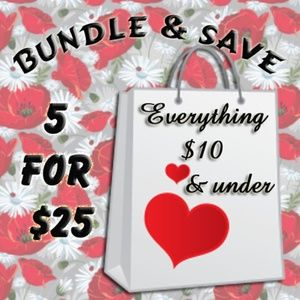 Bundle & Save 5 for $25